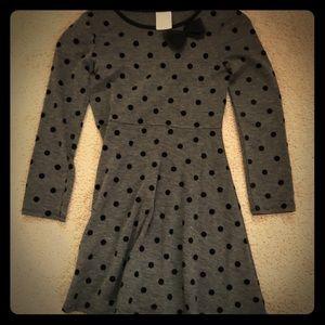 Sonoma long sleeve polka dots dress